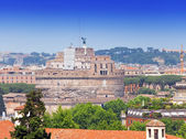 Rome. Italy. The top view on Castel Sant' Angelo — Stock Photo