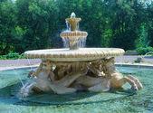 Rome, Italy. The fountain of sea horses in Borghese park — Stock Photo
