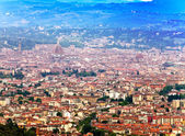 Italy. Florence. View of the city on top — Stockfoto