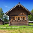 Open-air museum of ancient wooden architecture. Russia. Vitoslavlitsy, Great Novgorod — Stock Photo #29001961