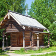 Open-air museum of ancient wooden architecture. Russia. Vitoslavlitsy, Great Novgorod — Stock Photo