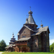 Open-air museum of ancient wooden architecture. Russia. Vitoslavlitsy, Great Novgorod — Stock Photo #29002201
