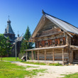 Open-air museum of ancient wooden architecture. Russia. Vitoslavlitsy, Great Novgorod — Stock Photo #29002365