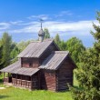 Open-air museum of ancient wooden architecture. Russia. Vitoslavlitsy, Great Novgorod — Stock Photo #29007907