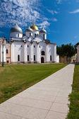 Saint Sophia cathedral in Kremlin, Great Novgorod, Russia — Stock Photo