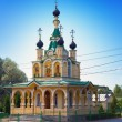 "Church for the sake of the Mother of God icon ""All grieving pleasure"". Russia. Petersburg — Stock Photo"
