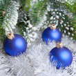 Dark blue New Year's ball — Stockfoto