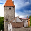 Medieval towers - part of the city wall. Tallinn, Estonia — Stock Photo
