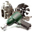 Car repair - details of pump of high pressure and air impact wrench on white backgroun — Foto de stock #31952141