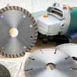 Cutting machine and various detachable disk — Foto de stock #31953907