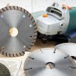 Cutting machine and various detachable disk — Stock Photo #31953907
