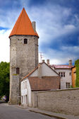 Medieval towers - part of the city wall. Tallinn, Estonia — Stock Photo