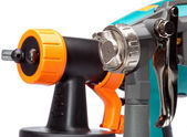 Nozzle of a spray gun close up — Stock Photo