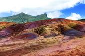 Nejznámější turistické místo na mauricius - země sedmi barev — Stock fotografie