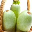 Stock Photo: Vegetable marrows in baske