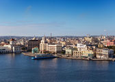 Havana. View of the old city through a bay from Morro's fortress. — Stock Photo
