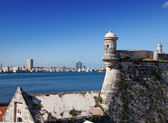 Havana. View of the city through a bay from Morro's fortress. — Stock Photo