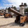 Cuba. Old Havana. Cannon in Castillo de la Real Fuerza — Stock Photo