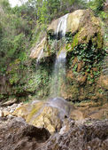 The waterfall at park of Soroa, a famous natural and touristic landmark in Cuba — Stock Photo