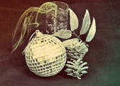 Vintage New Year's ball — Stockfoto