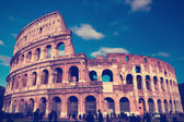 Italy. Rome. Collosseo,with a retro effect — Zdjęcie stockowe