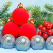 New Year's balls — Stockfoto