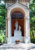 Chapel Madonna defender (La Madonna della Guardia, 1937.) in Vatican garden — Stock Photo