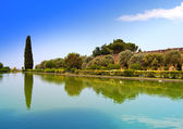 Villa Adriana- ruins of an imperial country house in Tivoli near Rome, from where the emperor Adrian ruled the Roman Empire — Stock Photo