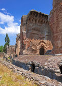 Villa Adriana- ruins of an imperial Adrian country house in Tivoli near Rome, — Stock Photo
