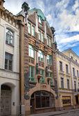 Old houses on the Old city streets. Tallinn. Estonia. — Stock Photo