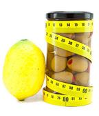 Zdrowa żywność - z oliwek i cytryny — Zdjęcie stockowe