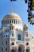 Catedral naval ortodoxa de são nicolau em kronstadt, são petersburgo rússia — Fotografia Stock