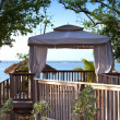 Cosy pavilion with a view of the sea — Stock Photo #51243527