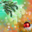New Year's ball on an abstract background — Stock Photo #7901056