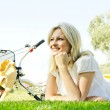 Happy young woman relaxing — Stock Photo #13313776