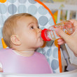 Baby drink water  — Stock Photo