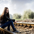 Lonely teenage girl — Stock Photo