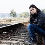 Lonely teenage girl — Stock Photo #13690398
