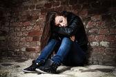 Ragazza adolescente triste — Foto Stock