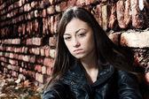 Sad teenage girl — Foto Stock