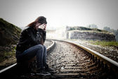 Depressed and Lonely Teenage Girl — Stock Photo