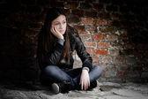 Dospívající dívka v depresi — Stock fotografie