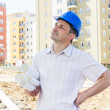 Construction manager on site — Stock Photo