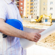 Construction manager looking project — Stock Photo
