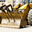 Bulldozer on building site - Foto Stock