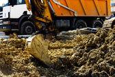 Excavator machines — Stock Photo