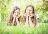 Happines friends enjoyment — Stock Photo