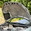 Stock Photo: Open car hood