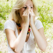 Stock Photo: Pollen allergy