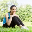 Happy fitness girl relaxing — Stock Photo #27723961